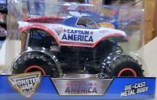 2016 Hot Wheels Monster Jam Truck 1:24 Scale J Case Captain America