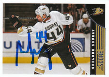 SHELDON SOURAY DUCKS AUTOGRAPH AUTO 13/14 SCORE #8 *26127