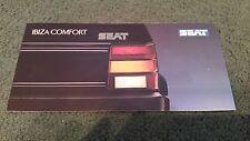 Agosto de 1988/1989 Seat Ibiza comodidad Special Edition UK pequeño folleto de carpeta