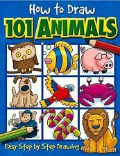 How to Draw 101 Animals: Easy Step-By-Step Drawing by Dan Green Paperback Book (