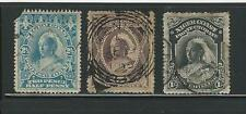 Niger Coast Protectorate: Scott 43-44-47-48, used, Cat 44$...NGR06