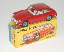 CORGI 327 ORIGINAL RED MGB GT COMPLETE BOXED MODEL - RARE & COLLECTABLE 1967-69