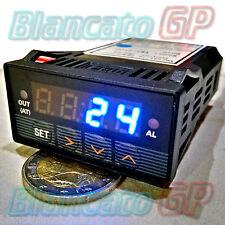 CONTROLLER TEMPERATURA PID UNIVERSALE 1/32 DIN termocoppia termoresistenza LED