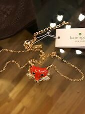 Kate Spade New York Into The Woods Fox Mini Pendant Necklace New