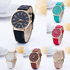 Fashion Geneva Men Women PU Leather Stainless Steel Quartz Wrist Watch Watches