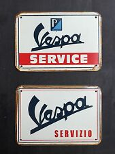 Vespa Service & Servizio - Vintage&Retro Garage Metal Sign 30x20 Cm ( set of 2 )