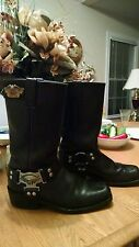 Harley Davidson Mens Motorcycle Boots Size 8 GUC