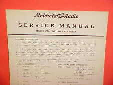 1946 1947 CHEVROLET FLEETLINE FLEETMASTER MOTOROLA AM RADIO SERVICE SHOP MANUAL