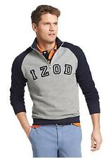 NWT Izod Big & Tall  1/4 Zip Pull Over Fleece Sweatshirt Navy/Gray LT $68.msrp