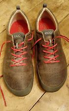 Mens ecco biom natural motion brown leather trainers