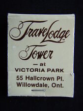 TRAVELODGE TOWER VICTORIA PARK 55 HALLCROWN PL WILLOWDALE 416 4937000 MATCHBOOK