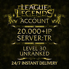 League of Legends LOL account | Turkey | level 30 | 20.000+ | IP unranked