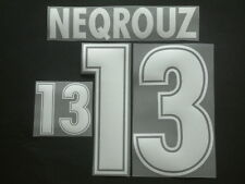 "NEQROUZ NOME+NUMERO MAROCCO HOME/AWAY OFFICIAL ""WORLD CUP 98 "" NAMESET"