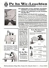 Reklame Blatt Pe ha We Leuchten Bauhaus Lampen Scherenlampen Werkstatt um 1935 !