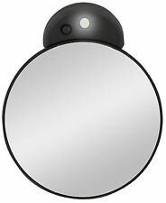 Zadro 10X Magnification LED Lighted Suction Cup Mounted Spot MakeUp Mirror FC10L