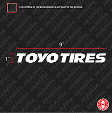 2X TOYO TIRES BRAND CAR sticker vinyl decal