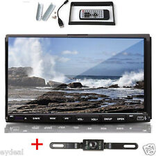 Double 2Din 7'' Car DVD CD MP3 Player Touch Screen In Dash Stereo Radio HD+CAM