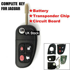 4 BUTTON FLIP REMOTE KEY ALARM FOB For JAGUAR XJ XJR X S type Blade - 433Mhz UK
