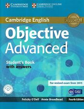 Cambridge OBJECTIVE ADVANCED CAE Student's Book w Answers & CD-ROM Fourth Ed NEW