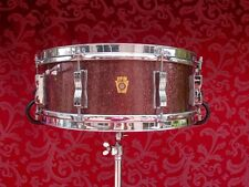 RARE 1965 LUDWIG JAZZ FESTIVAL BURGUNDY SPARKLE SNARE DRUM CHICAGO ERA