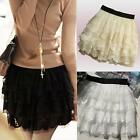 Sexy Tulle Lace Tutu Mini Skirt Black White Beige Selectabe- S/M