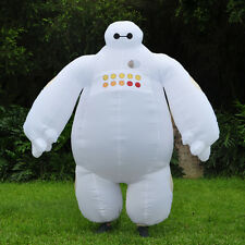 Big Hero 6 Adult Inflatable Baymax Costume Airblown Fancy Dress Mascot Cosplay