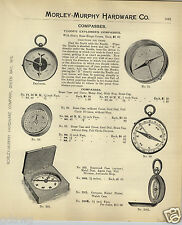 1908 PAPER AD Tudor's Explorer Compass Compasses Brass Rosewood Case Watch Case