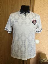 RARE England NATIONAL TEAM 1990/1991/1992 HOME FOOTBALL SHIRT MAGLIA UMBRO