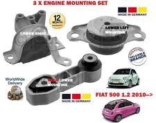 Para Fiat 500 + 500c 1.2 me 69bhp 2009 -- > Nuevo Delantero Trasero De 3 X Motor conjunto de montaje