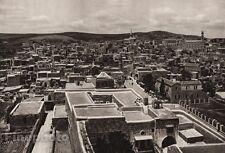 1925 Vintage BETHLEHEM Cityscape Landscape ISRAEL Palestine Religion Photo Art