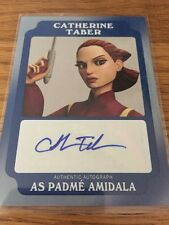 Star Wars Rouge One Mission Briefing Catherine Taber 02/25 Blue Auto Card