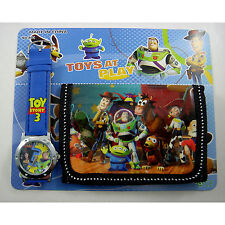 Toy Story Buzz & Woody Children's Wrist Watch & Purse Wallet Set For Kids Boys