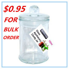 1 x Glass Apothecary Candy Jar with Lid, for Candy & Candle Waxing 150ml