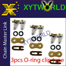 3pcs Motorcycle O Ring 525 Chain MASTER JOINT LINKS CLIP Chip Type Joining link