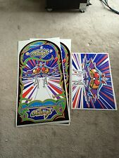 GALAGA Arcade Machine Cabinet Decal Set (NOT INKJET) UV Cured INKS SIDE ART