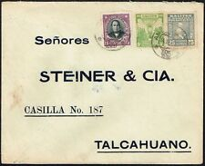 3949 CHILE COVER 1931 SALITRE SALTPETER SERIES RPO RAILWAY CANCEL AMBULANCIA #85