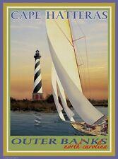 Cape Hatteras Lighthouse- Vintage Art Deco Style Travel Poster- Aurelio Grisanty