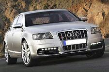 Universal BMW Audi S6 LED DRL White Xenon HID Design Daytime Running Light 6000K