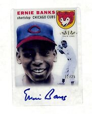 2012 Topps Tier One Ernie Banks auto autograph rookie reprint card /25 Cubs HOF