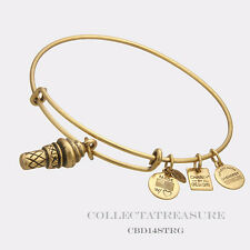 Authentic Alex and Ani Sweet Treats Rafaelian Gold Charm Bangle CBD