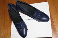Authentic!$675 BALENCIAGA ARENA BLEU NAUTIQUE WEDGE SHOES SZ 9us/ 39.5eu