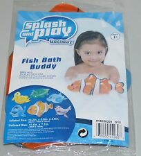 Splash and Play Inflatable Bath Buddy Bathtub Toy Ages 1+ Fish NEW
