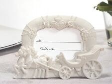144 White Cinderella Royal Carriage Coach Wedding Place Card Photo Frame Favors