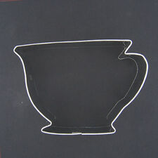 "TEACUP 3""  METAL COOKIE CUTTER WEDDING TEA PARTY STENCIL CUP ELEGANT WOMEN NEW"