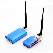 1.3G 5W Wireless CCTV Audio Video AV 4CH Transmitter Sender Receiver Transceiver
