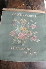 Beautiful Vintage Gainsborough damask fabric book - 32 large samples - craft