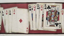 Poker Hands Playing Cards Wallpaper Border NW10001B