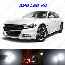 16 x White LED interior Bulbs + License Plate Lights for 2011-2016 Dodge Charger