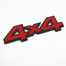Red 4x4 Badge Emblem Decal Metal 3D Sticker For Jeep Grand Cherokee Wrangler SUV