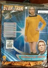 Star Trek Movie Command Gold Dress Comic Con Adult Women's Costume Extra Small